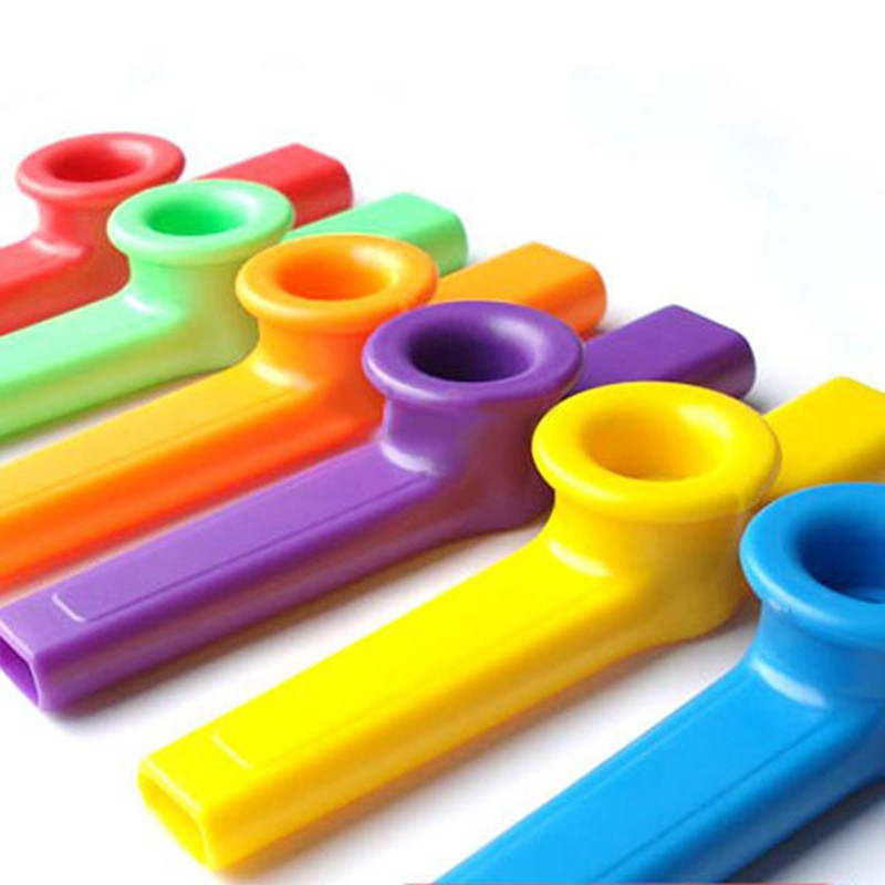 Plástico Kazoo 6 Color Mezclado Viento Instrumento kazoo Kazoo Instrumento Instr