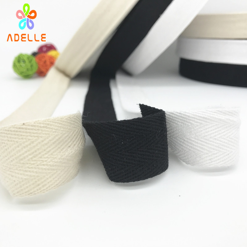Black Cotton Tape 10mm Twill Tape Bunting Apron Stay tape 10 Metres