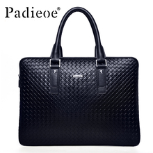 Padieoe Men's Briefcase Famous Brand Tote Bag Leather Messenger Bag Business Men Handbags Fashion Shoulder Bags Free Shipping
