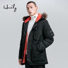HMILY Winter Jacket Men Warm Thick Windproof Pockets Windbreaker Mens Hooded Zipper Male Parka Jackets Brand Coats