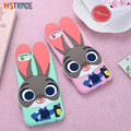 Wilde zootopia judy nick coelho dos desenhos animados 3d capa para iphone 6 6 s case de silicone macio coque funda para iphone 6 s 6 plus phone cases