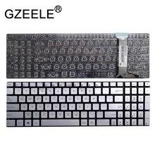 GZEELE ใหม่รูปแบบ Silver US สำหรับ Asus N551VW N551ZU N551JX N551JB N551JK N551JM N551JQ N551JW G551VW G551JK แป้นพิมพ์แล็ปท็อป