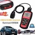 Горячие Продажи KW808 OBD2 Сканер Автомобиля Диагностический Код Читателя МОЖЕТ Engine Сброс Инструмент KONNWEI Автоматический Сканер Охват (сша Азиатские и Европейские)