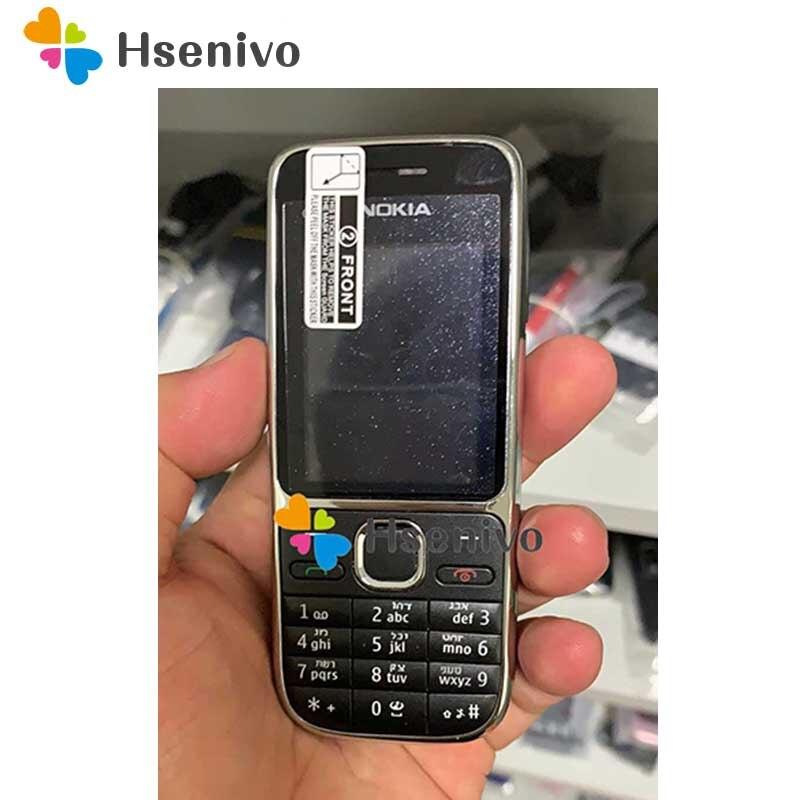 Original Nokia C2 C2-01 Ouro Desbloqueado Telefone Celular GSM Remodelado Celulares & Russo Hebraico teclado Árabe
