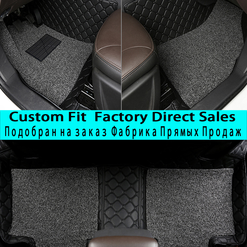 SUNNYFOX car floor mats for Volkswagen Beetle Eos Golf Jetta Passat sharan leather Anti-slip car-styling carpet linerSUNNYFOX car floor mats for Volkswagen Beetle Eos Golf Jetta Passat sharan leather Anti-slip car-styling carpet liner