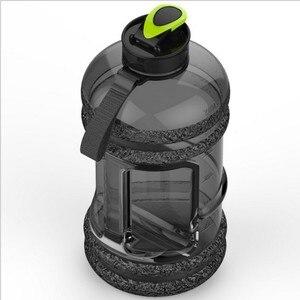 Image 2 - חדש 2.2L ספורט גדול קיבולת מים בקבוק חדר כושר כושר קומקום חיצוני קמפינג אופניים שלי מים בקבוק חלל בקבוק שייקר BPA