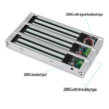 Elektromanyetik elektrikli manyetik kapı kilidi 60 KG/180 KG/280 KG elektronik kilit 12V Su Geçirmez/Sinyal geri besleme/Zaman Gecikmesi/gömülü