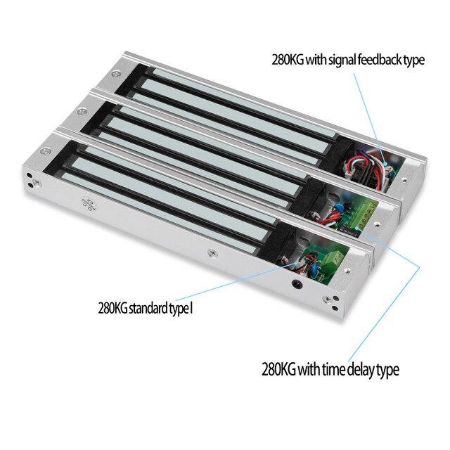 Serrure de porte électrique électromagnétique, serrure électronique, 60KG/180KG/280KG, 12V étanche/Signal retour dinformations, retard/intégré
