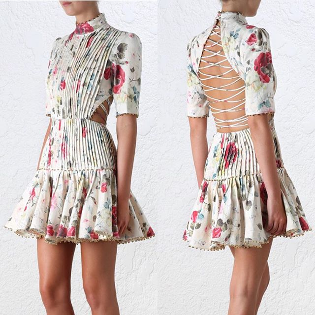 Cotton on lace print dress