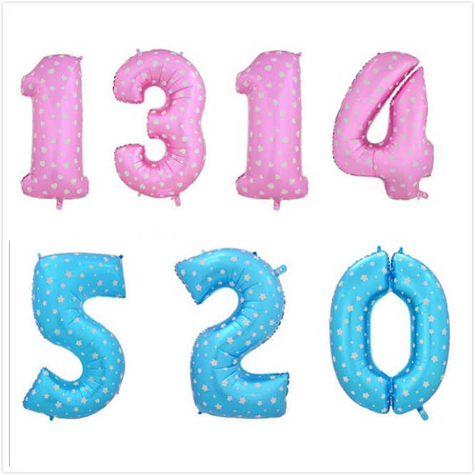 40 Inch Number Balloon Aluminum Foil Helium Balloons Party Decoration Wedding Ch