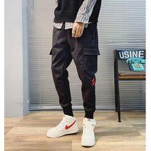 Invierno primavera Hip Hop pantalones de los hombres de moda para hombre de  carga Pantalones casuales Streetwear Harem coreano p. 26854c46fcb6