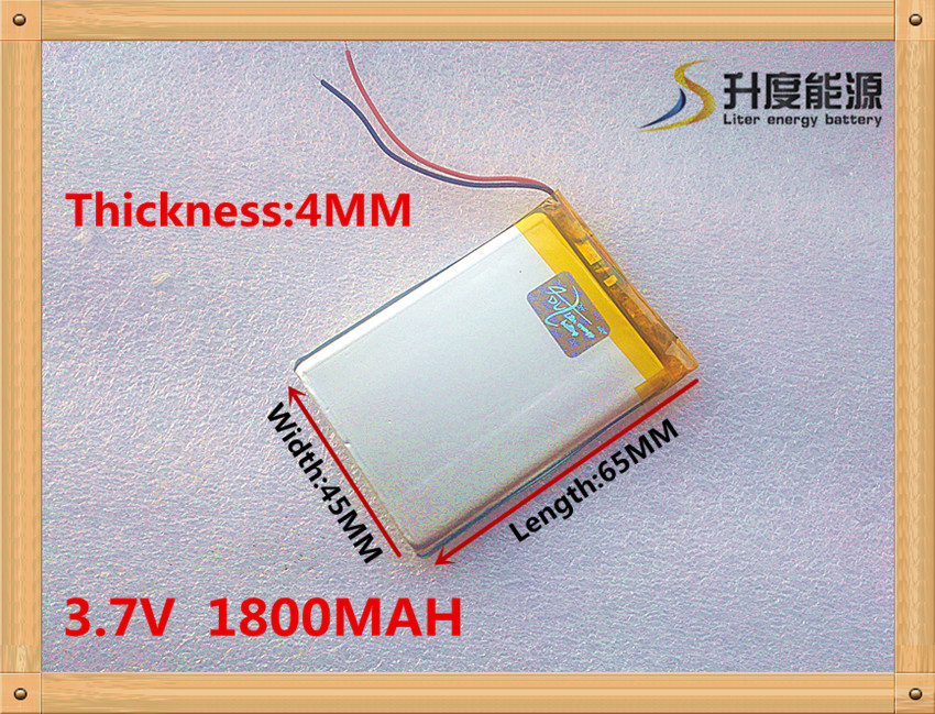 Free shipping 3.7 V 1800 mah e-readers 404565 electronic learning machine 3.7 V lithium polymer batteries
