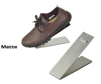 Matte Surface Stainless Steel Shoes Holder Support Keeper Metal Shoe Showing Display Rack Stand