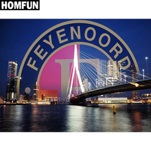 HOMFUN Full Square/Round Drill 5D DIY Diamond Painting Bridge scenery Embroidery Cross Stitch 5D Home Decor Gift A06170 homfun full square round drill 5d diy diamond painting deer scenery embroidery cross stitch 5d home decor gift a18124