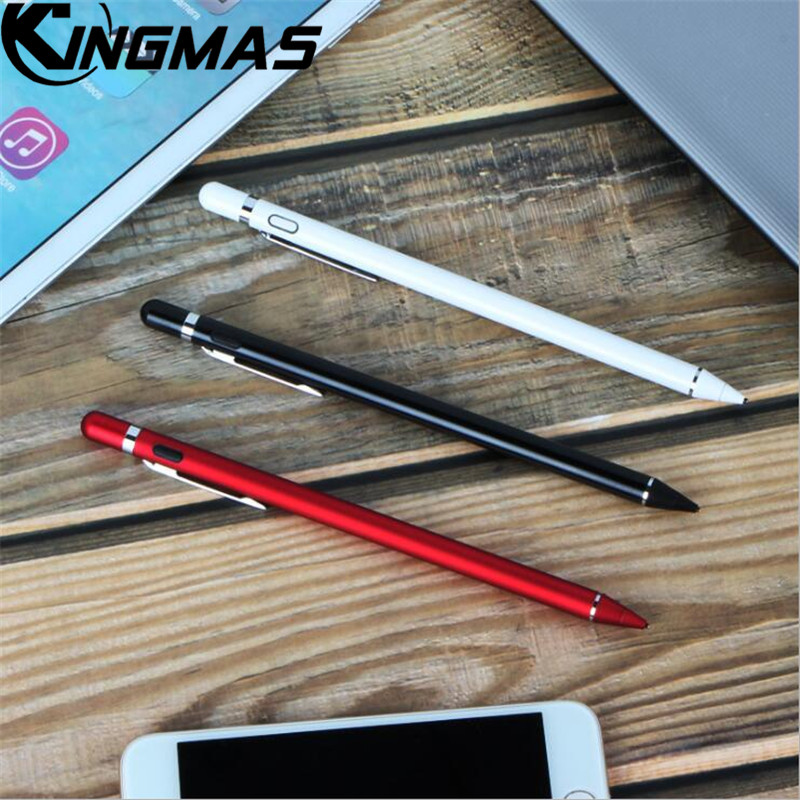 High Precision Capacitive Stylus pen For ipad pencil Metal Screen Pen For iPad 9.7 inch New 2017 Air 2 1 5 6 Tablet Capacitive professional electric hair care styling automatic hair curler tools pro spiral curling irons magic plastic hair curler rollers