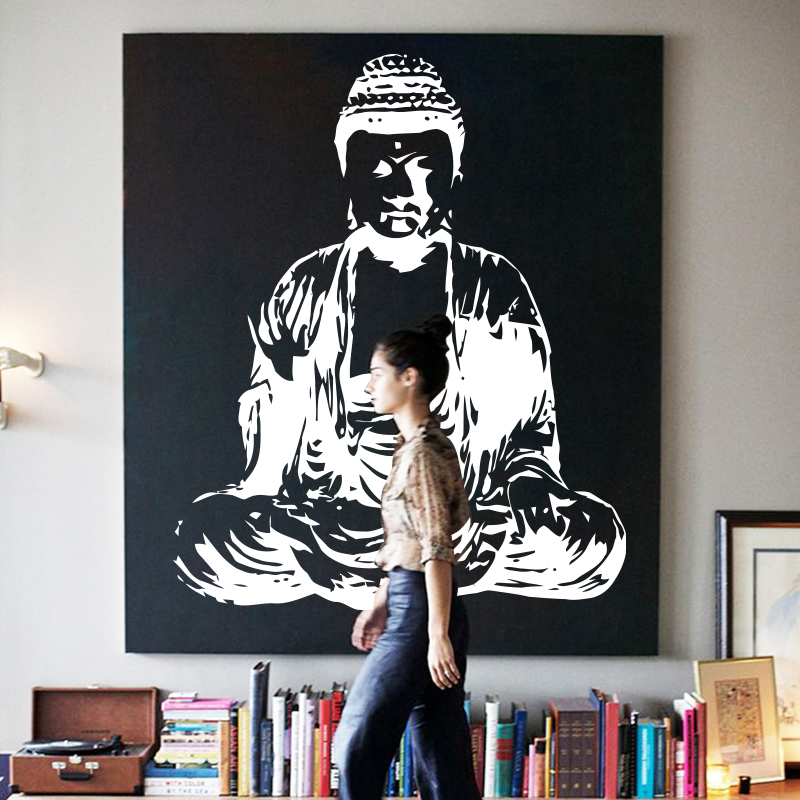 Art New Design House Decor Vinyl Buddha Religion Wall Decals Removable  Colorful Home Decoration Cheap PVC Buddhism Room Sticker In Wall Stickers  From Home ...