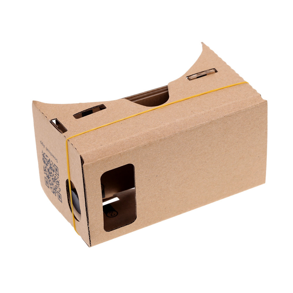 "DIY Google Cardboard Virtual Reality VR Mobile Phone 3D Viewing Glasses for 5.0"" Screen Wholesale(China)"