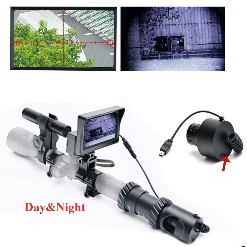 Обновленный открытый охотничья оптика зрение Тактический Цифровой Инфракрасный ночного видения телескоп Бинокль с ЖК-дисплеем использова...