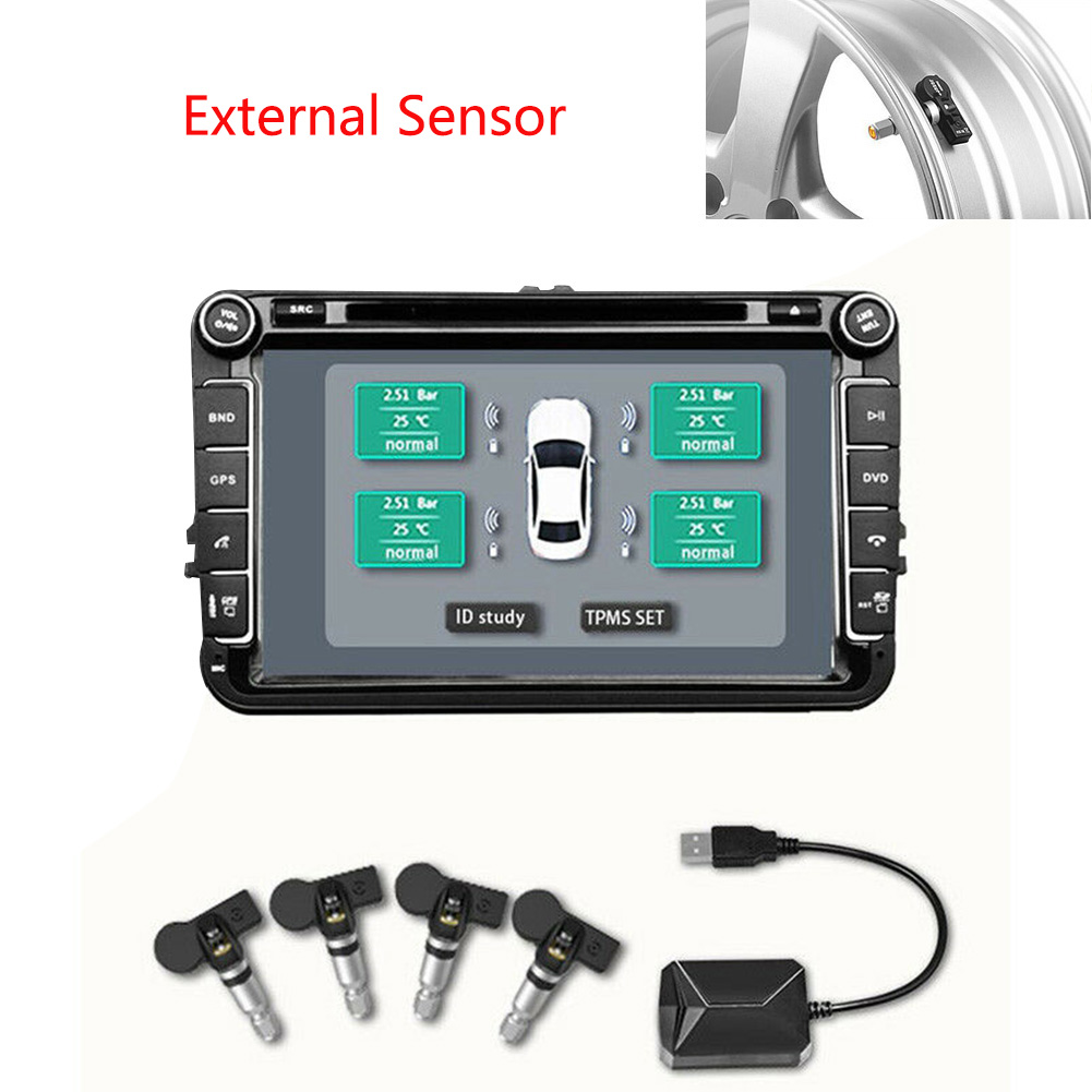 Tool Easy Install Tire Pressure Monitor Digital Module Sensor For Android Real-time Display Vehicle Auto Alarm USB TPMS WirelessTool Easy Install Tire Pressure Monitor Digital Module Sensor For Android Real-time Display Vehicle Auto Alarm USB TPMS Wireless