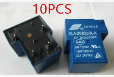 10pcs/lot Relay Sla-24vdc-sl-a General Specifications T90 4 Feet Open 24vdc 30a 24v Relieving Heat And Sunstroke