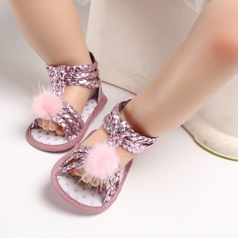 Summer Baby Girl Shoes Fashion Casual First Walker Newborn Princess Girl PU Soft-Soled Prewalker Slip-on Flat First Walker