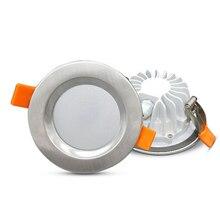 Spot lumineux LED pour le plafond en acier inoxydable, IP65 LED étanche, 5/7/9/12W, lumière anti incendie, idéal pour une salle de bain, 5/7/9/12W