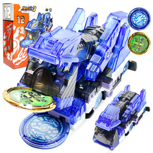 Newest Burst Speed Screechers Wild Deformation Car Action Figures Multiple Chip Capture Wafer 360° Flip Transformation Cars toys(China)