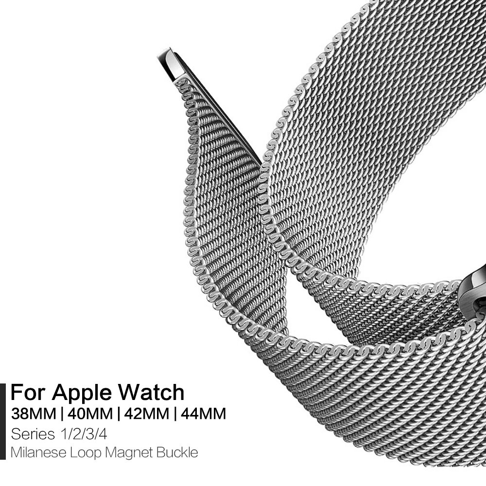 Milanese Loop 1:1 For Apple Watch Band Series 1 2 3 4 38mm 40mm 42mm 44mm Strap For Apple IWatch Milanese Band Magnet With Boxes