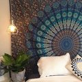 2016 Two Size Indian Mandala Tapestry Hippie Wall Hanging Tapestries Boho Bedspread Beach Towel Yoga Mat Blanket Table Cloth