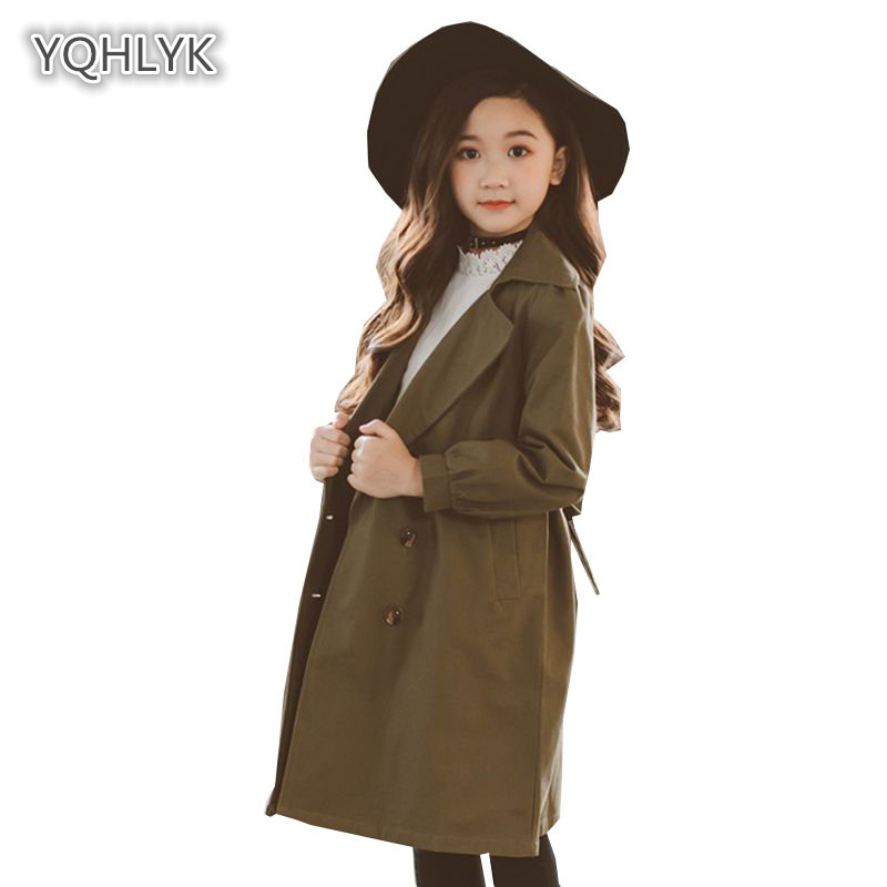Mother Daughter Autumn Long Windbreaker family matching Fashion Lapel coat Mother Daughter Jacket Family Clothes LK123 family fashion mother and child tendrils down coat thickening jacket vest mother