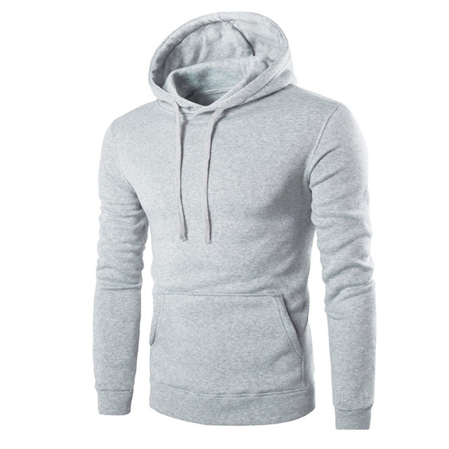 Casual Men Long Sleeve Fleece Hoodie Solid Exercise Slim Male Hooded Sweatshirt Boys Hip Hop Hoodies Tops Outwear Plus Size Nov9