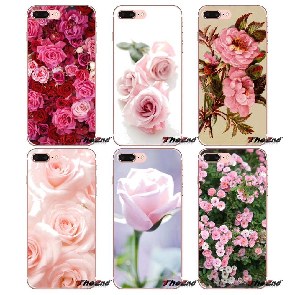 brand new 6f9ab b998b Pink Roses Flowers Bloom Soft Phone Samsung Galaxy S2 S3 S4 S5 MINI S6 S7  Edge S8 Plus Note 2 3 4 5 Grand Core Prime
