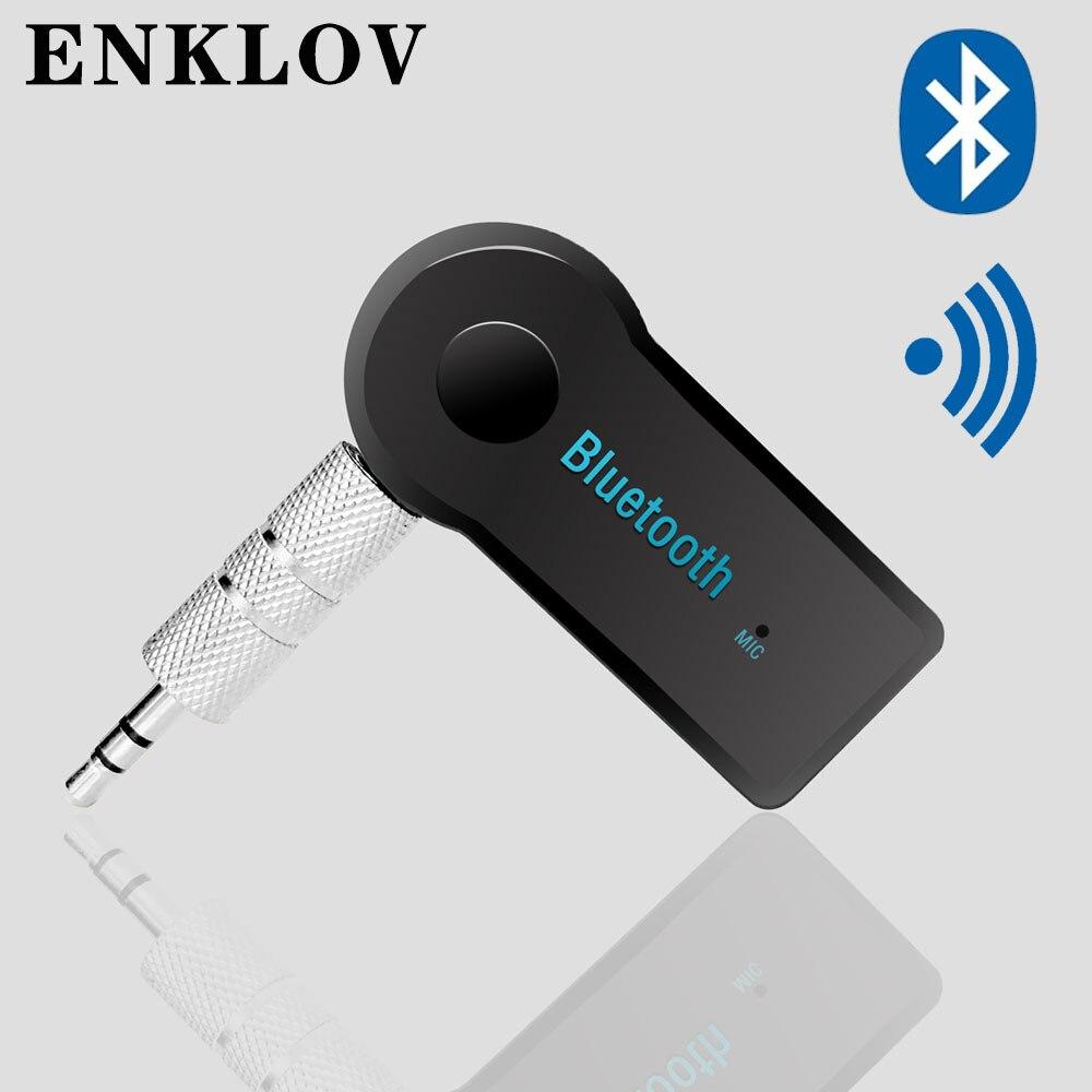 ENKLOV  Handsfree Bluetooth Receiver Bluetooth Speaker Receiver Bluetooth Auxiliary AUX Receiver Car Bluetooth Adapter