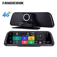 2019 10'' Full Screen Dashboard Car DVR 4G Android Dash Cam HD 1080P Auto Camera ADAS GPS Wifi Remote Monitor Registrar DVRs