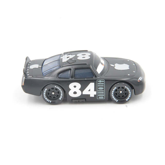 US $6 68 14% OFF|Disney Pixar Cars Lightning Mcqueen No 84 Black Apple 1:55  Diecast Metal Toy Car For Children Collection Kids Toys Brinquedos-in