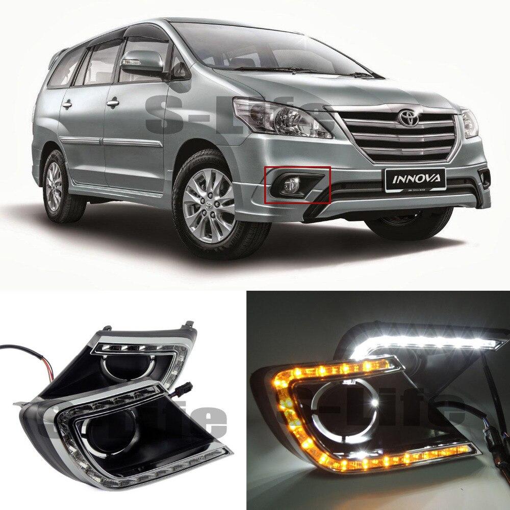 TEAEGG 2x LED Daytime Fog HolesLights DRL Run lamps DayLight For Suzuki MU-X 2015-2018