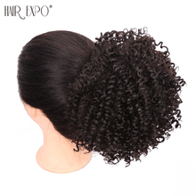 Hair Expo City Curly Chignon Synthetic Drawstring Ponytail Updo Fake Buns For Women Wedding Hairstyle