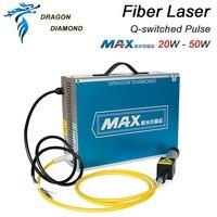 Новая лазерная маркировочная машина MAX 20 Вт 50 Вт MFP 20/30/50 добротности импульсный волоконный лазер серии GQM 1064nm волокна лазерный маркер генера