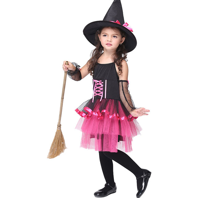 Halloween Costume for Kids Girl Waist Straps Dresses (Hat+Sleeve+Dress) Cute  sc 1 st  AliExpress.com & Halloween Costume for Kids Girl Waist Straps Dresses (Hat+Sleeve+ ...