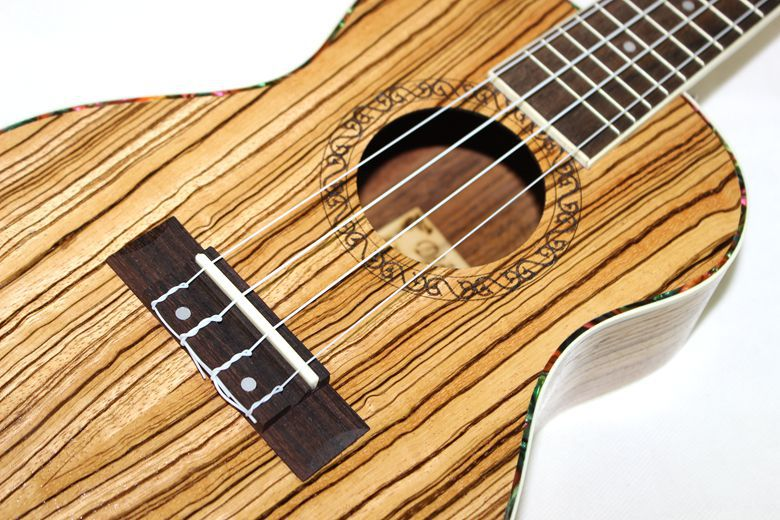 Sopran Concert Ukulele 21 23 Inch Hawaiian Mini Small Guitar 4 Strings Ukelele Guitarra Handcraft Zebra Wood Musical Uke