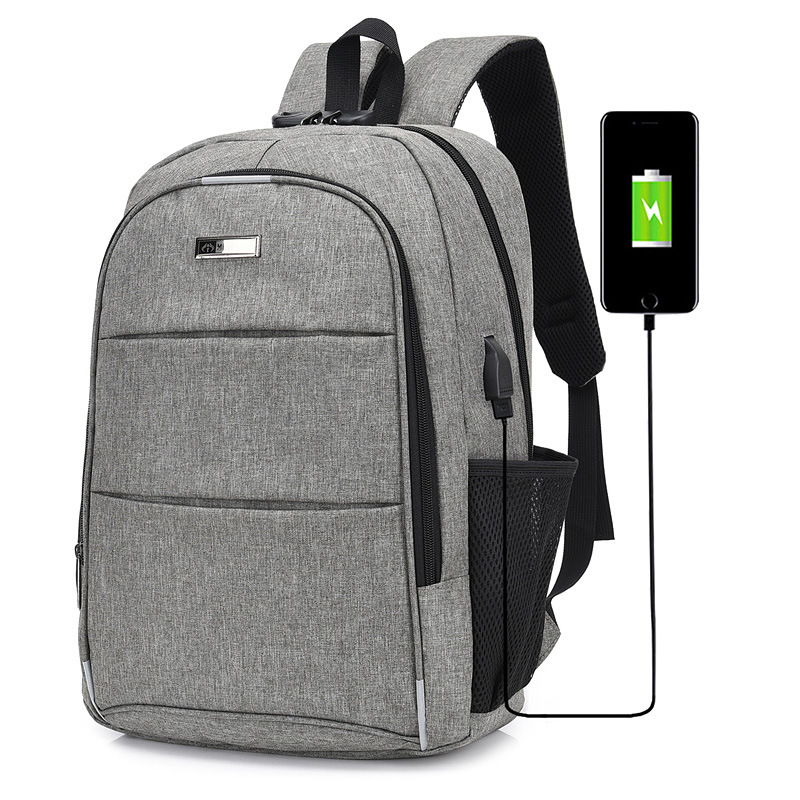 2019 JIULIN Travel Laptop Double Shoulder Pack Burglar-proof Backpack USB Charging Student Bag(China)