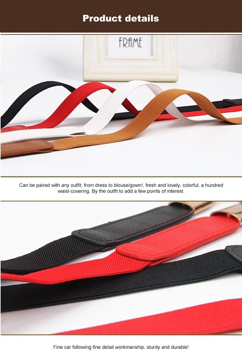 1 (4)Adjustable Women Belts Fashion PU 4 Colors Windbreaker Waist Band Thin Elastic Waist Belt Dress Apparel Accessories Hot Sale