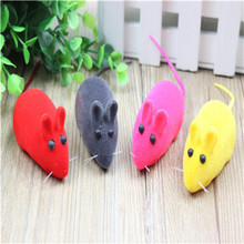 Pet toy flocking mouse sound baby toys cat toy dog toys 4 Pack
