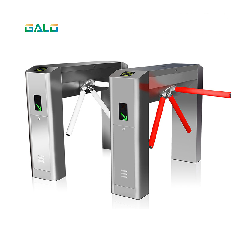 Security Bridge Type Tripod Turnstile Barcode Reader /Direct Deal Access Control Card System For Residential Entrance