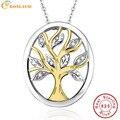 BONLAVIE Clássico 925 Sterling Silver Tree of Life Pingente Colares para As Mulheres Qualidade Superior Família Amorosa Colar Colar Com Caixa