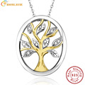 BONLAVIE Classic 925 Sterling Silver Tree of Life Pendant Necklaces for Women Top Quality Loving Family Collar Necklace With Box