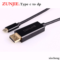 High Quality type c Male to DP Female Cable Converter Adapter 1.8m usb c to DP For Projector DTV TV HDVD Player 4K/2K