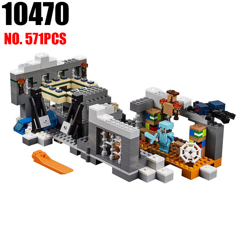 Bela 10470 my worlds MineCrafted 571pcs End Portal Figure building blocks Bricks toys for children compatible with 21124 авто 21124 за 200 т