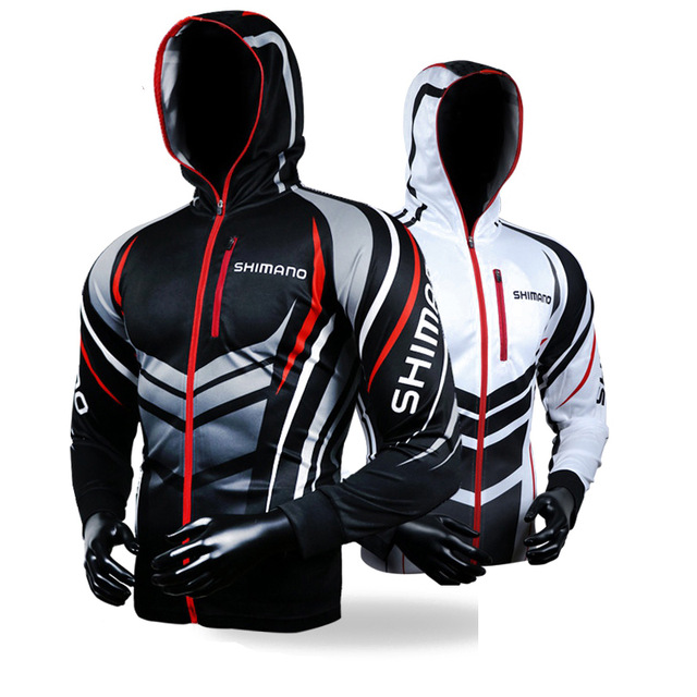 Ropa de Pesca con capucha chaqueta de secado rápido camisa de Pesca para senderismo ciclismo ropa de Pesca