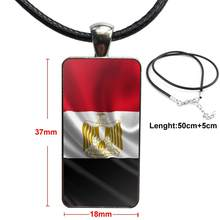 Steel Color Glass Cabochon With Rectangle Shaped Pendant Choker Necklace For Kids Beads Egypt South Africa Nigeria Tpu Rubber(China)